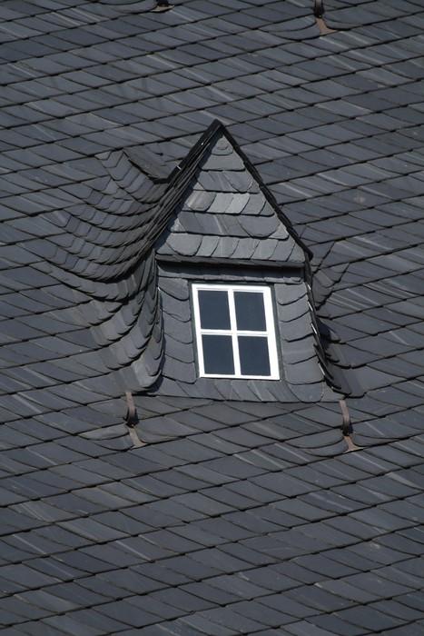 Altes Schieferdach Mit Dachgaube Und Dachfenster Wall Mural Pixers