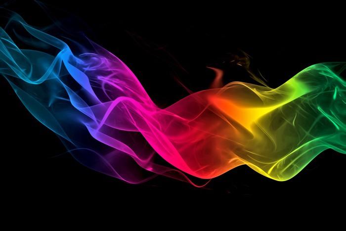 Vinylová Tapeta Abstraktní duha kouř pozadí - Témata