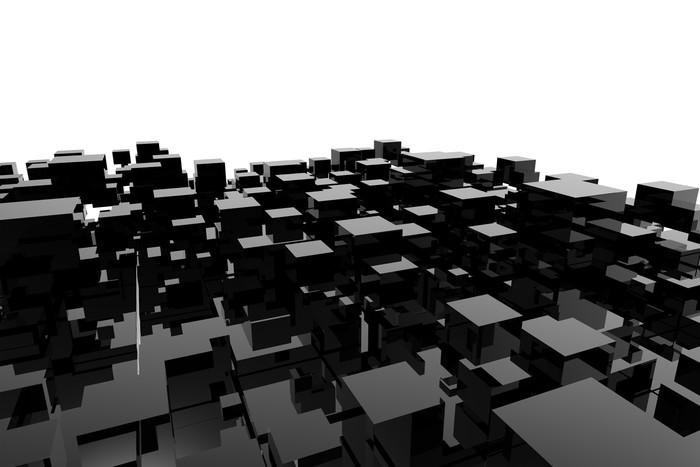 Carta da parati cubo tridimensionale pixers viviamo for Carta parati tridimensionale