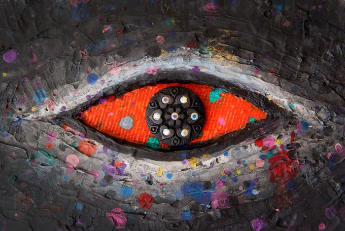 Vinylová Tapeta Red Eye - Umění a tvorba