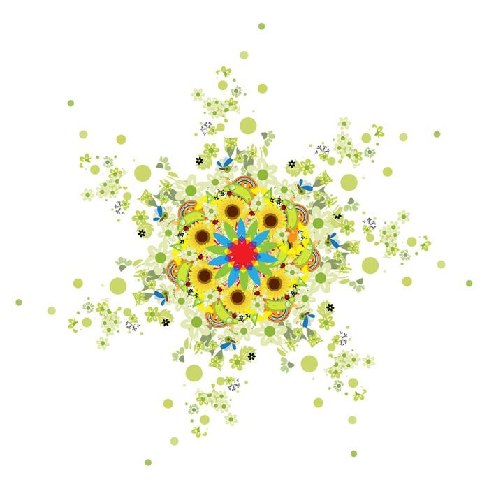 Vinylová Tapeta Květinové Arabesque pro svůj design - Roční období