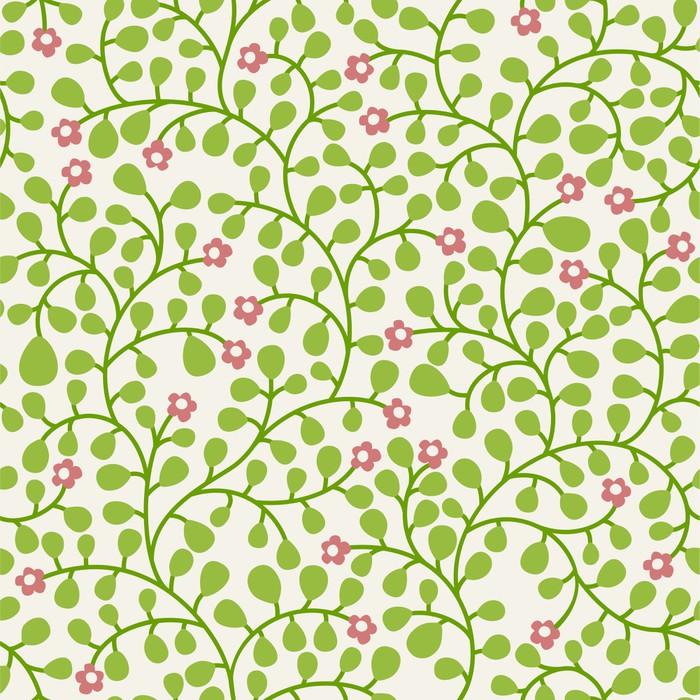 Vinylová Tapeta Bezešvé pozadí s trochou listy ornament - Květiny