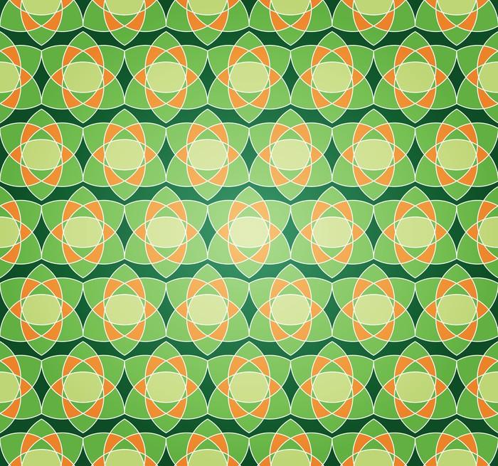 Vinylová Tapeta Green Starry Květinový bezproblémové vzorek - Umění a tvorba