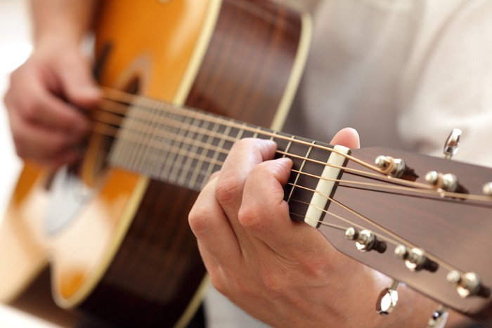 Nálepka Pixerstick Kytarista - Hudba