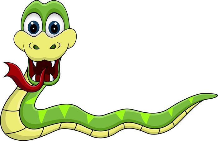 Carta da parati serpente divertente cartone animato