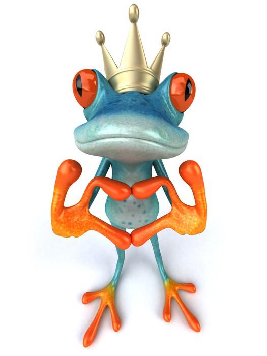 Vinylová Tapeta Modrá žába - Značky a symboly