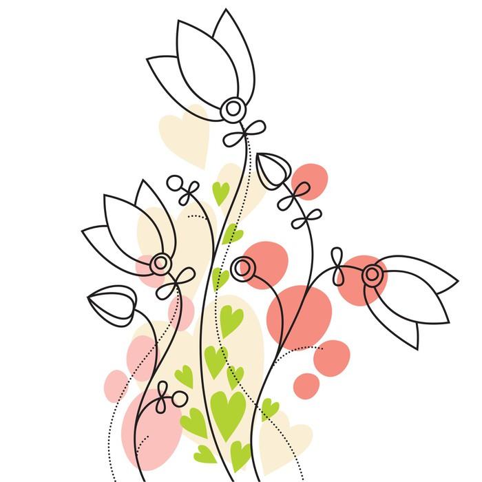 Vinylová Tapeta Pastel květinové pozadí - Rostliny