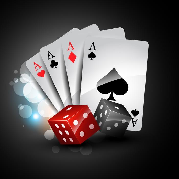 Vinilo Pixerstick Jugar a las cartas y dados • Pixers® - Vivimos ...