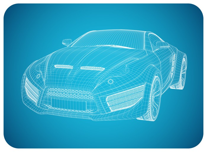 Sports car blueprint non branded concept car wall mural pixers sports car blueprint non branded concept car vinyl wall mural on the road malvernweather Choice Image