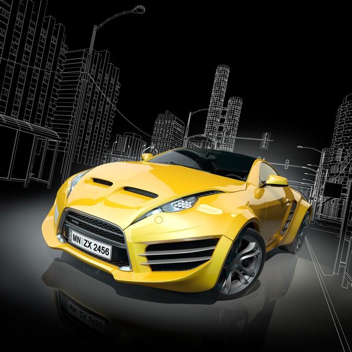 papier peint jaune voiture de sport conception de la voiture originale pixers nous vivons. Black Bedroom Furniture Sets. Home Design Ideas