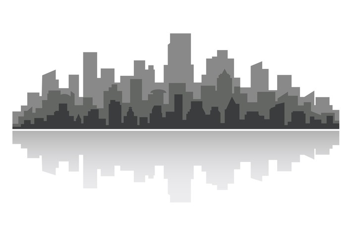 Vinylová Tapeta Downtown panoráma - Těžký průmysl
