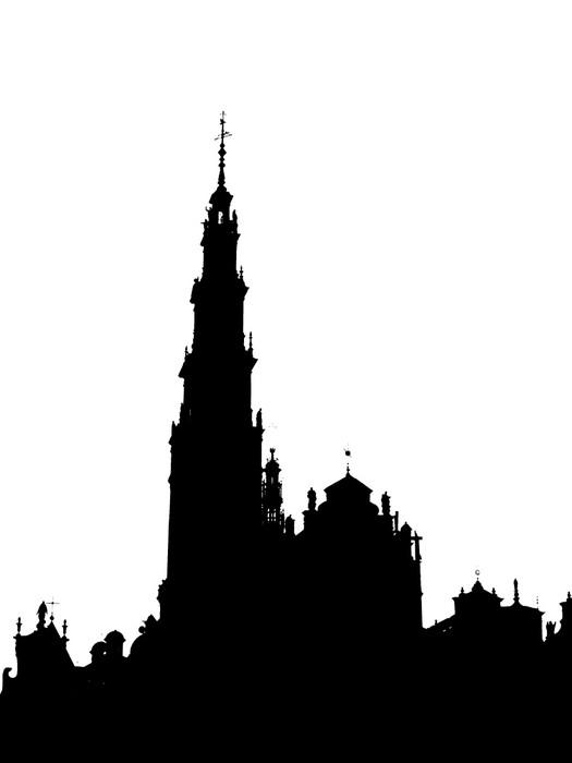 Vinylová Tapeta Obrys Jasná Hora - Náboženství