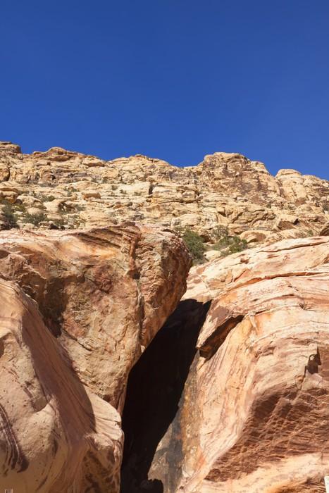 Vinylová Tapeta Pohled na Red Rock Canyon v Mohavské poušti. - Pouště