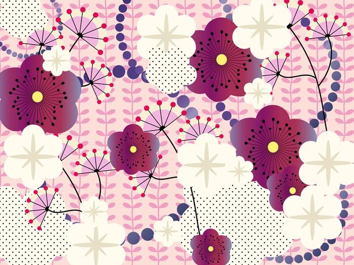 papier peint japonais fond rose pixers nous vivons pour changer. Black Bedroom Furniture Sets. Home Design Ideas