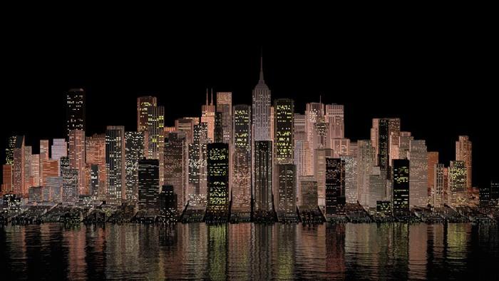 tableau sur toile new york 3 pixers nous vivons pour changer. Black Bedroom Furniture Sets. Home Design Ideas