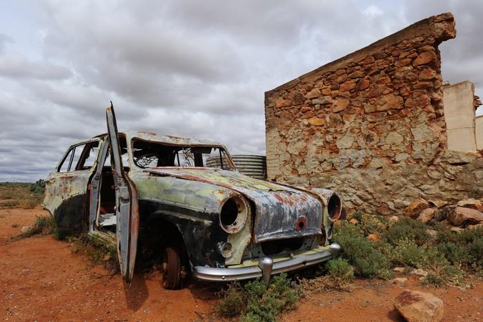Vinylová Tapeta Ghost Town Outback Austrálie - Oceánie