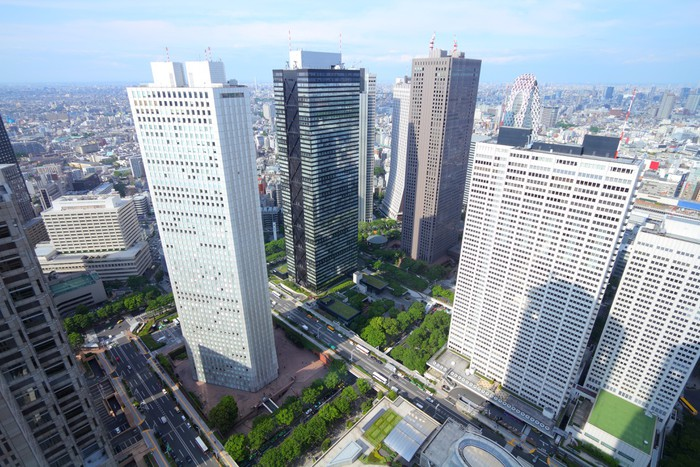 Vinyl Behang Tokyo Shinjuku - Aziatische steden