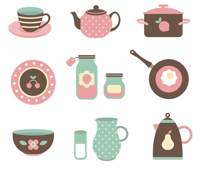 Fotomural herramientas vectoriales de cocina pixers - Fotomural para cocina ...