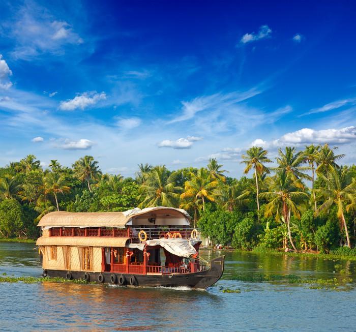 Vinylová Tapeta Houseboat na Kerala rameny, Indie - Lodě