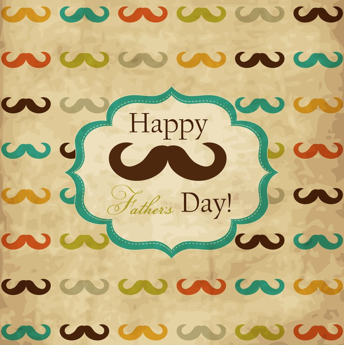 Card with mustache for Father\'s Day Poster • Pixers® • We live to change