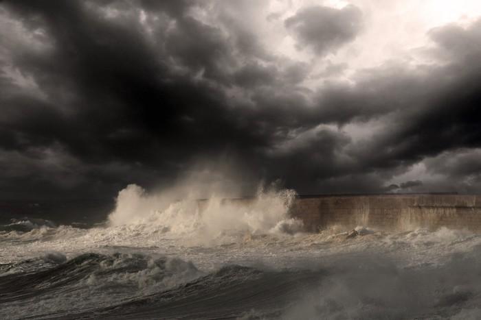 Vinylová Tapeta Storm oko - Voda
