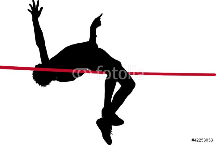 Vinylová Tapeta Skok vysoký - Individuální sporty