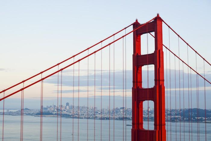 Vinylová Tapeta Golden gate bridge - Americká města