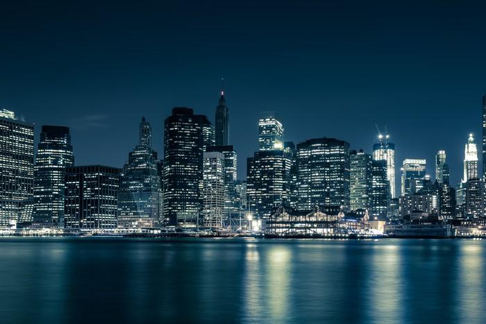 Fotobehang new york skyline pixers we leven om te for Chicago skyline mural wallpaper