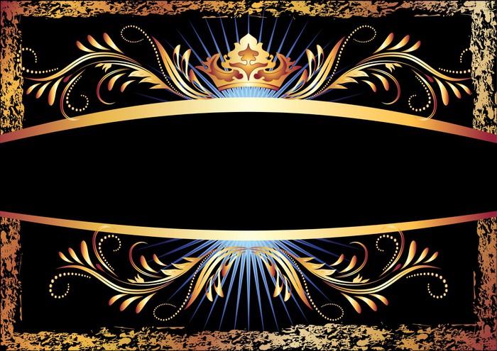 Vinylová Tapeta Luxusním měď ornament a koruna - Pozadí