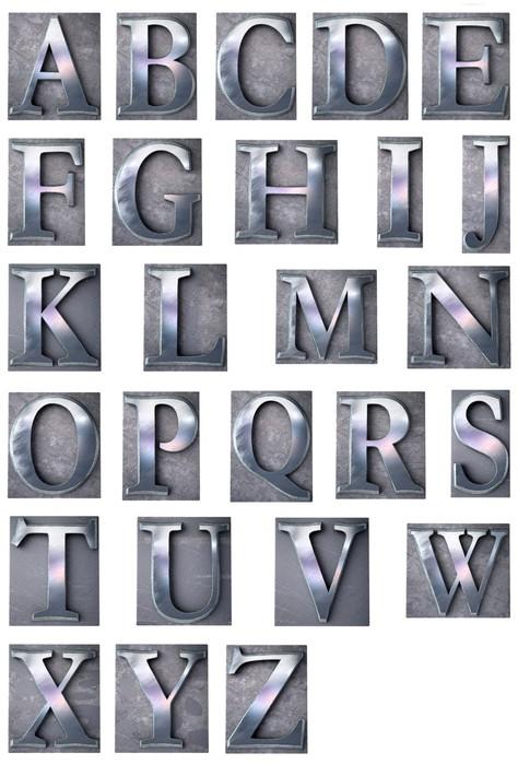 Vinilo Pixerstick Letra de imprenta mayúscula alfabeto • Pixers ...