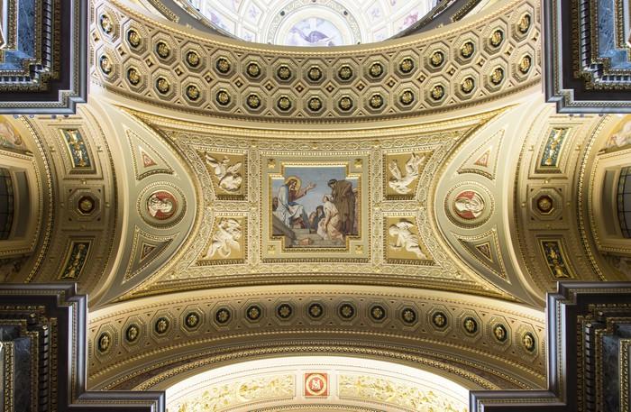 Tableau sur toile basilique de saint etienne j sus fresque pixers nous vivons pour changer - Cabinet dentaire saint etienne ...