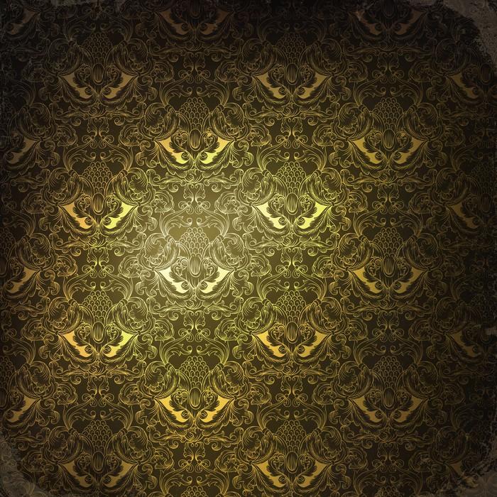Vinylová Tapeta Vintage zlaté zdobené pozadí, raster verze - Pozadí