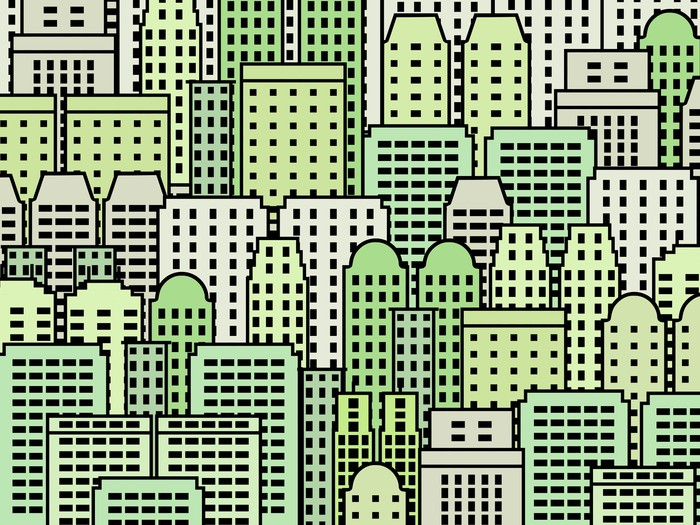 Vinylová Tapeta Zelené město vector abstract - Město