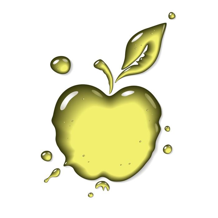 Apple juice - vector symbol Wall Mural • Pixers® • We live to change