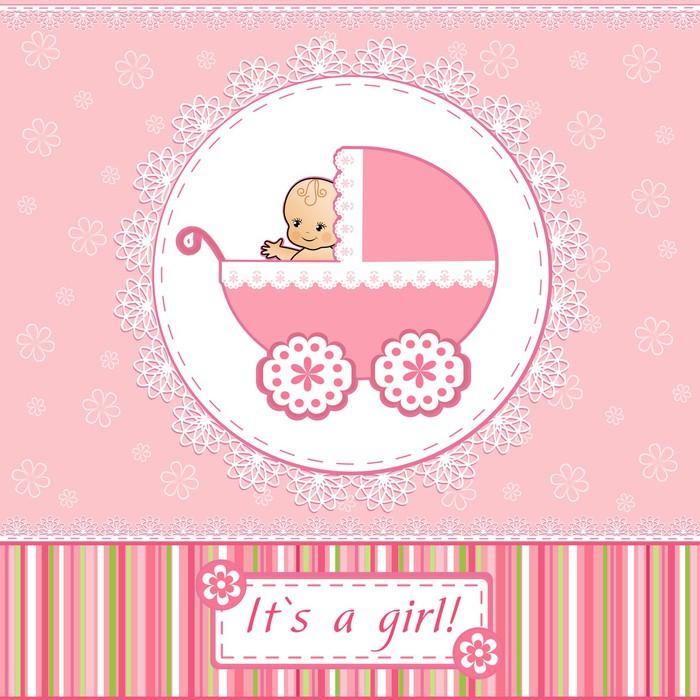 Fototapete Baby-Dusche-Karte • Pixers® - Wir leben, um zu verändern