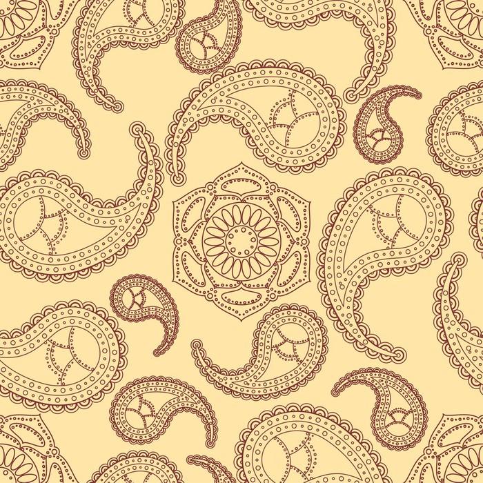 Vinylová Tapeta Vintage bezešvé paisley pattern - Styly