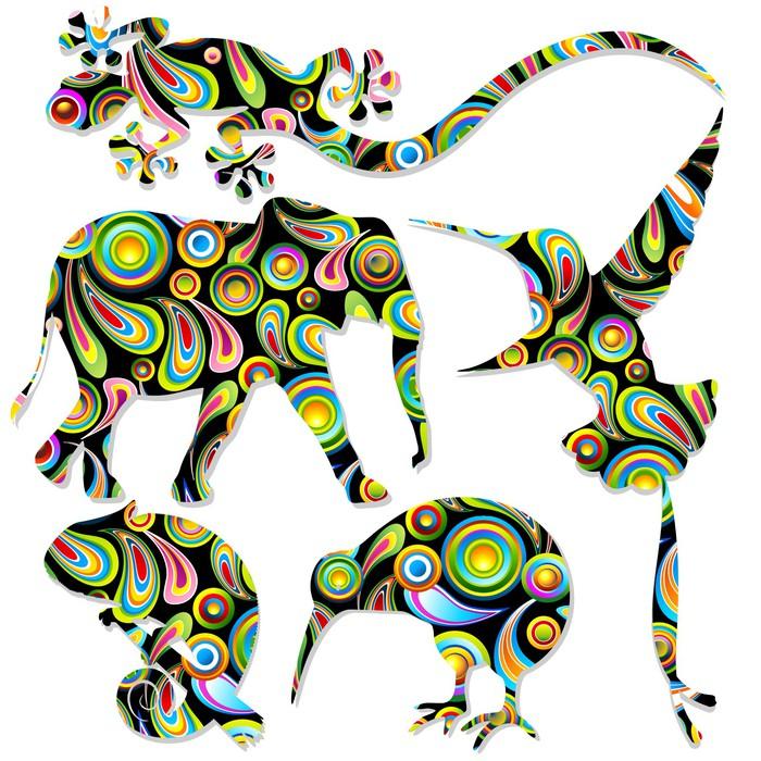 tableau sur toile animali selvaggi pop art animaux sauvages vector pixers nous vivons pour. Black Bedroom Furniture Sets. Home Design Ideas