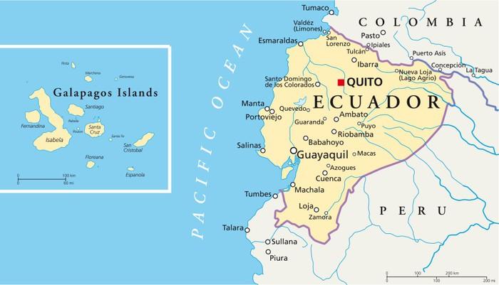 galapagosöarna karta Canvastavla Ecuador och Galapagosöarna   Karta • Pixers®   Vi  galapagosöarna karta