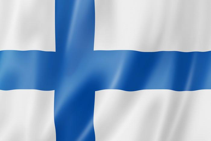Vinylová fototapeta Finská vlajka - Vinylová fototapeta