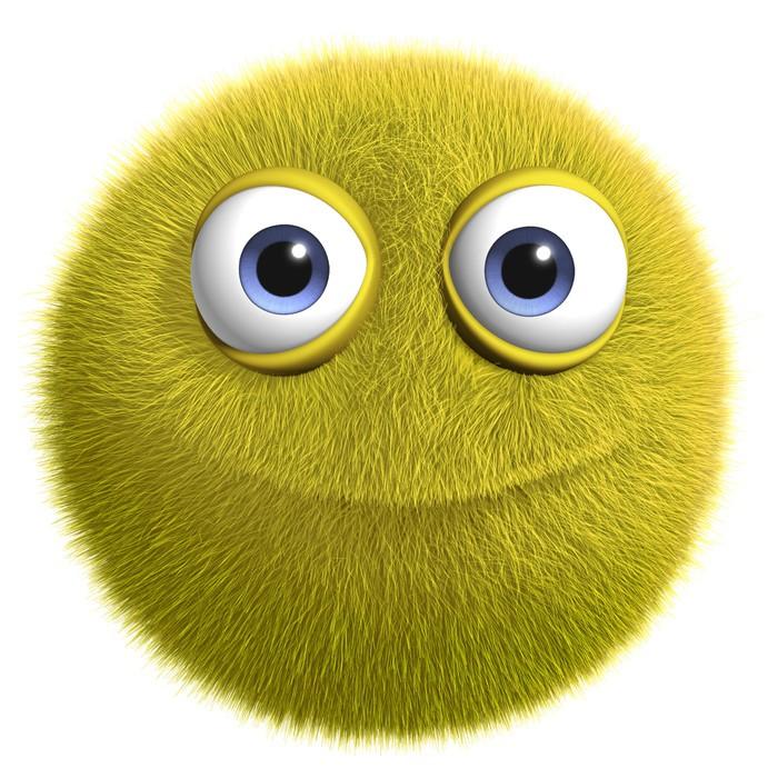 Fototapete gelbe alien pixers wir leben um zu ver ndern - Images de monstres rigolos ...