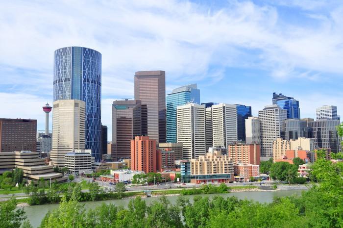 Vinylová Tapeta Calgary skyline - Jiné