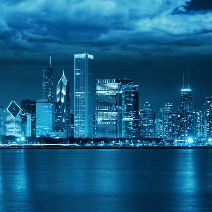 Vinylová Tapeta Storm v Chicagu - Prvky podnikání