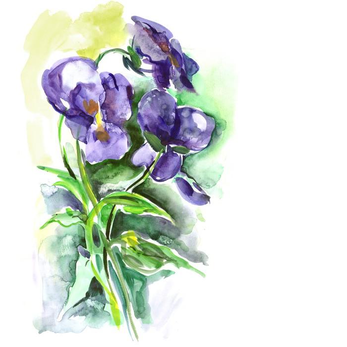 Sticker aquarelle fleurs de pens e pixers nous for Aquarelle fleurs livraison gratuite