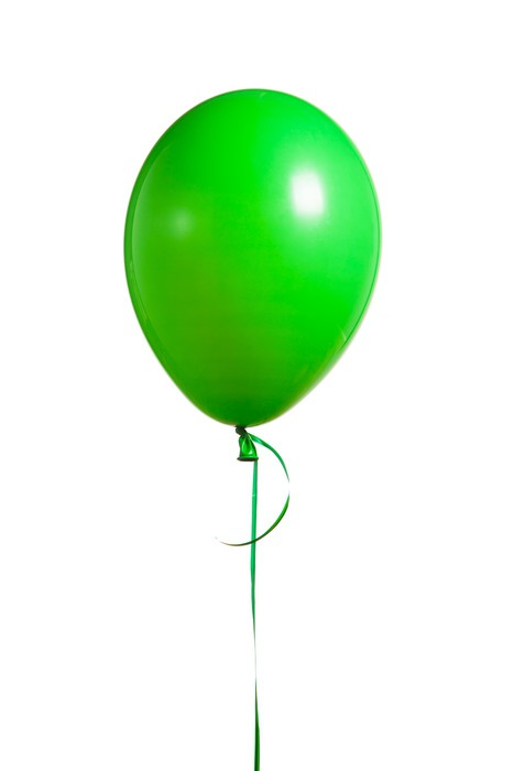 Festive green balloon pixerstick sticker celebrations