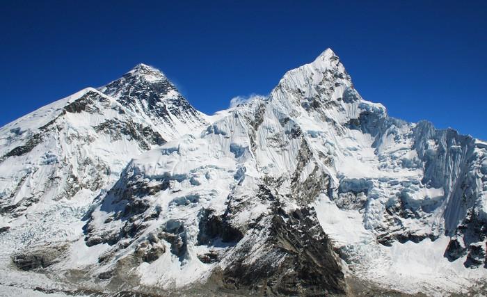 Vinylová Tapeta Mt Everest a Nuptse napravo v Himalájích, Nepálu. - Témata