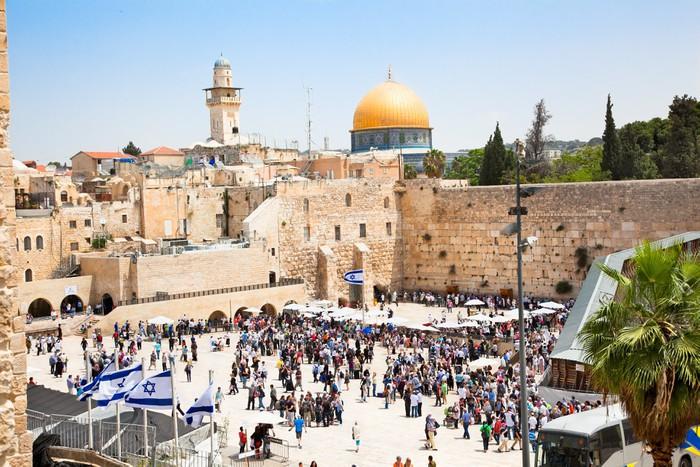Vinylová Tapeta Židé se modlí u Západní zdi v Jeruzalémě, Izrael - Témata