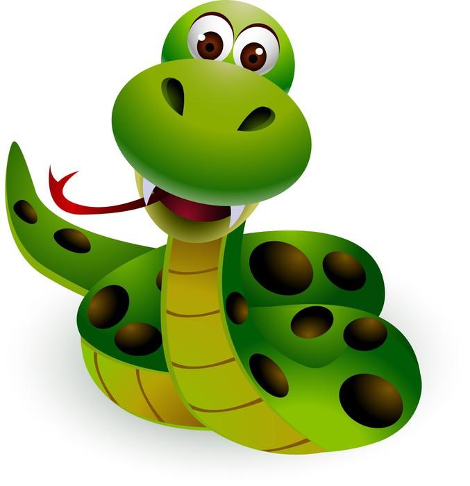 Carta da parati simpatico cartone animato serpente
