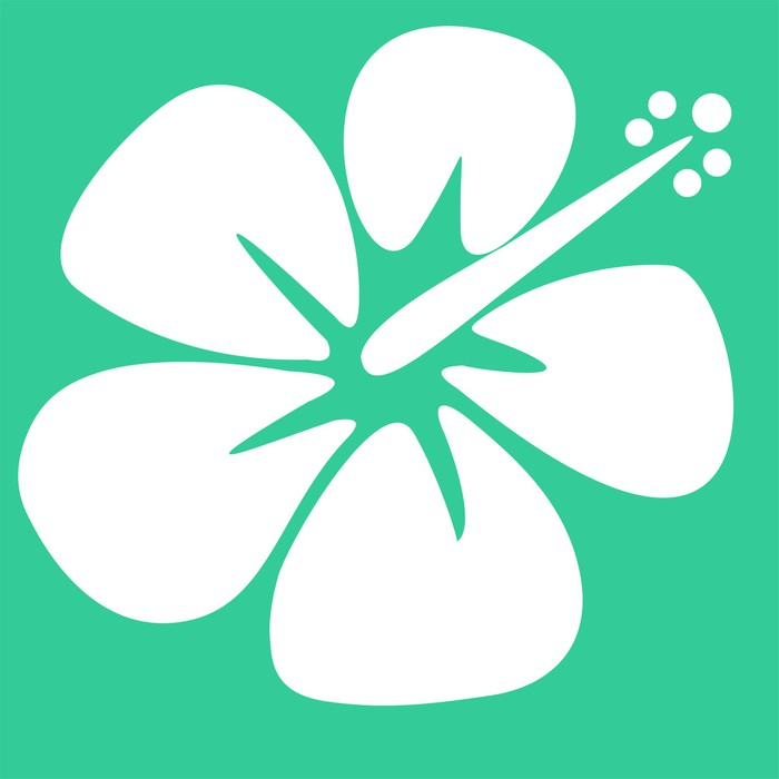 Aufkleber Hibiskus Schablone • Pixers® - Wir leben, um zu verändern