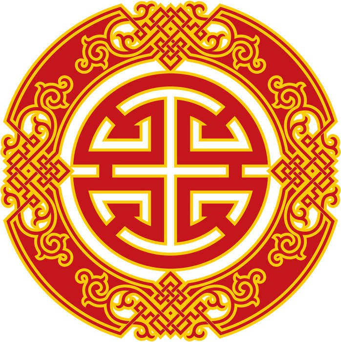 Chinese Pattern Career Luck And Prosperity Symbol Poster Pixers
