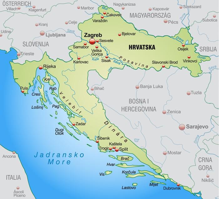 karta över kroatien Fototapet Karta över Kroatien • Pixers®   Vi lever för förändring karta över kroatien